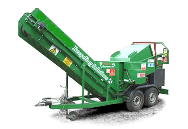 Hardmet Landforce recycling machine & multi-use waste shredder - click here for information about this machine and its many uses
